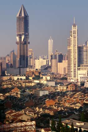 view of residential and financial districts