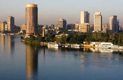 view of Cairo from the Nile