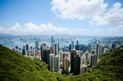 Hong Kong as seen from Victoria peak