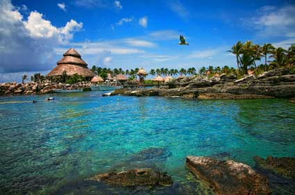 Tropical coast in Mexico
