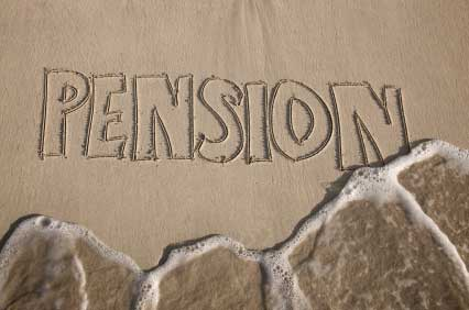 pension drawn in sand