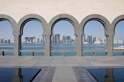 view of Qatar from the Museum of Islamic art