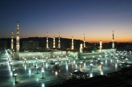 view of Medina at night