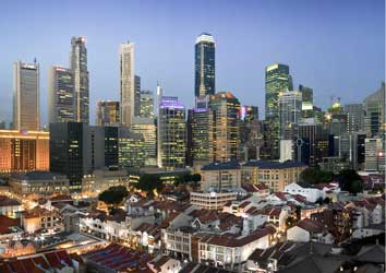 financial district of Singapore
