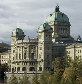 Swiss federal palace in Bern, home of the Swiss Government