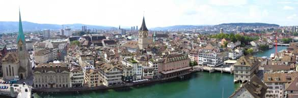 view of Geneva overlooking the river