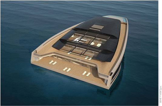 view of superyacht concept WHY